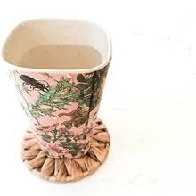 Load image into Gallery viewer, Rounded natural seagrass coasters for cups, mugs, tumblers.