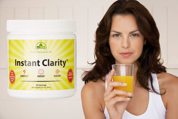 Instant Clarity™ Powdered Energy Drink - Seven Nootropics In Each Container - Promote Energy, Mood, Memory, and Focus