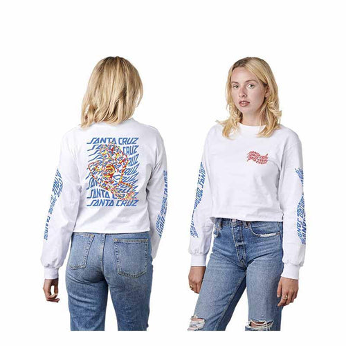 SANTA CRUZ WOMENS L/S CROP BOYFRIEND VORTEX HAND - NHS Fun Factory Canada