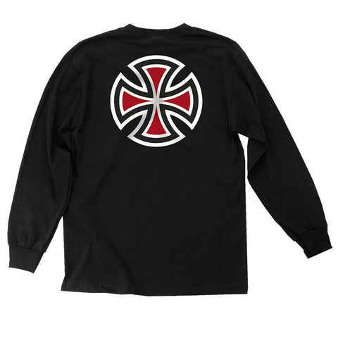 INDY YOUTH L/S TEE BAR/CROSS