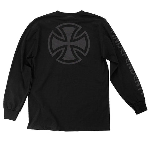 INDY L/S T-SHIRT BAR/CROSS FADE OUT