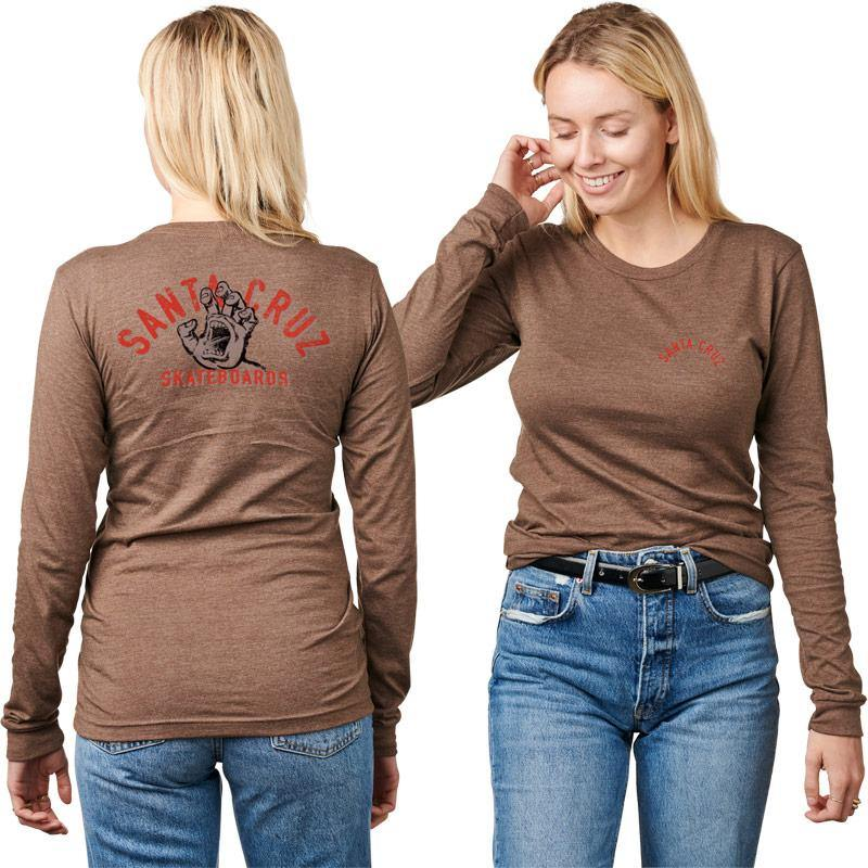 SANTA CRUZ WOMENS L/S TEE SCREAMING DECAY