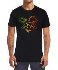 Full Body Lion T-Shirt - Black