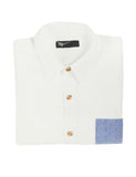 Slim Button Down - White Chambray