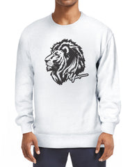 RAS Signature Lion Head Sweatshirt - White