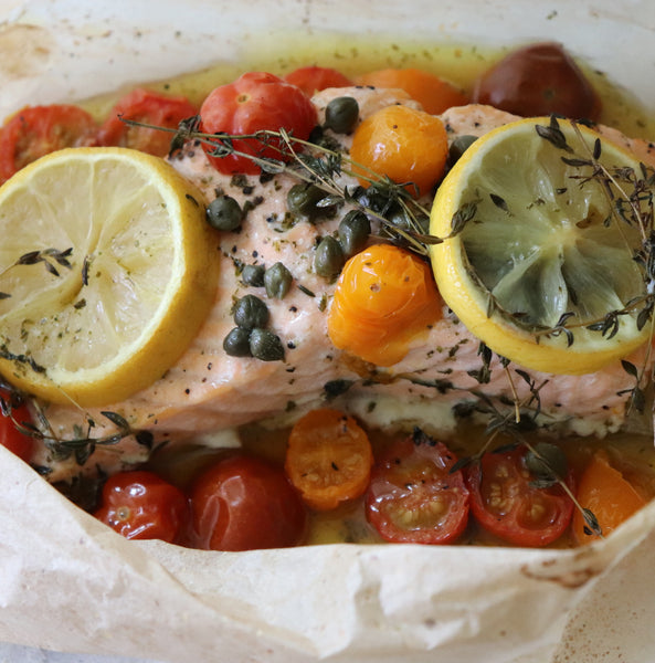 Baked Salmon in Parchment Paper