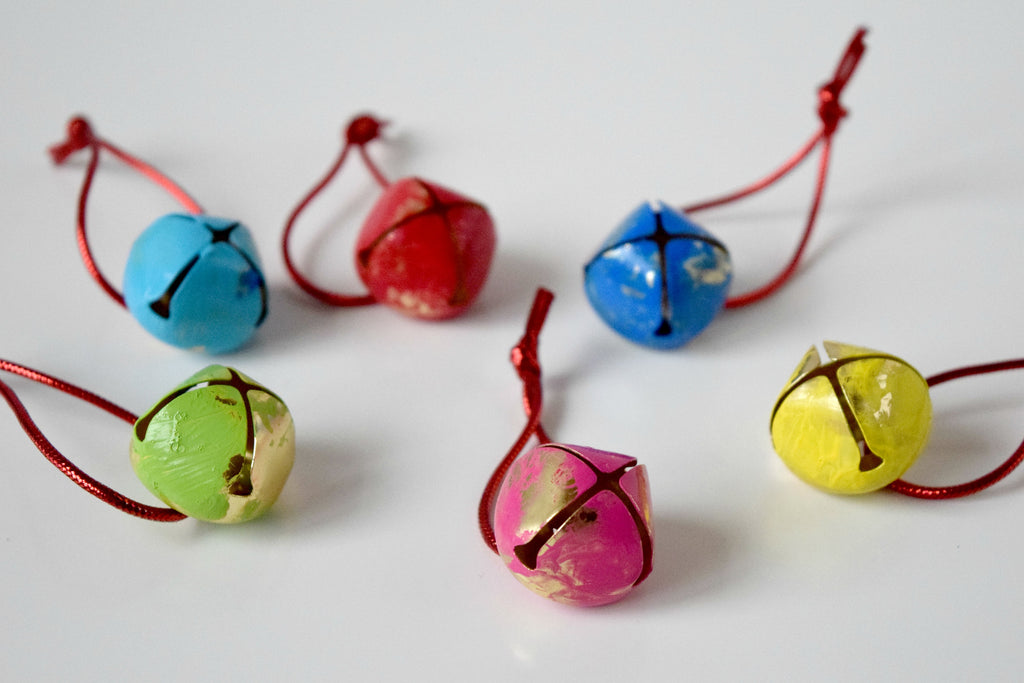 Hand-painted jingle bells