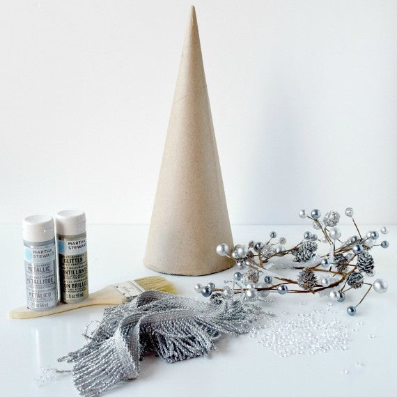Fringe Christmas Cone Materials