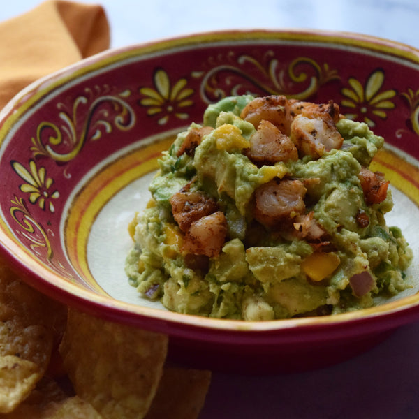 Guacamole with Mango and Shrimp
