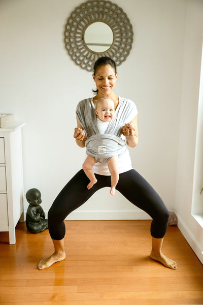 Mommy Baby Yoga Goddess Pose