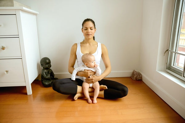 Mommy Baby Yoga Easy Pose