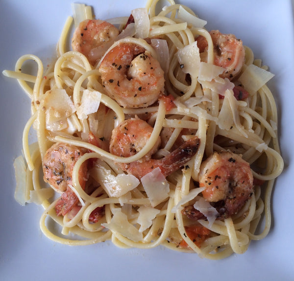 One-pot pasta with shrimp