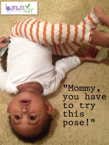 Baby Yoga Pose by Riley of BambiniWare