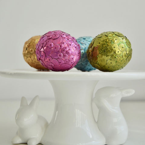 Give Your Easter Eggs a Little Sparkle With Sequins