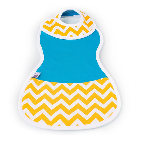 The Burpa Bib™ in Brightest Blue/Chic Chevron