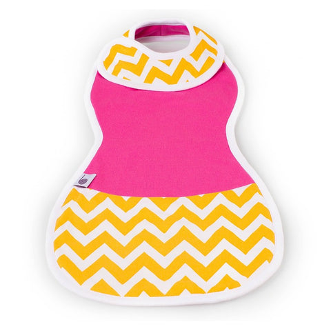 The Burpa Bib™ in Hot Pink/Chic Chevron