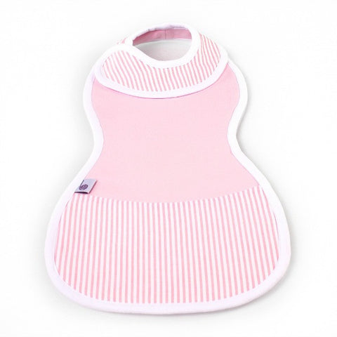 The Burpa Bib™ in Baby Pink/Saturday Seersucker