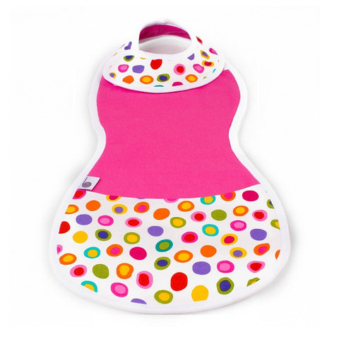 The Burpa Bib™ in Pink Polka