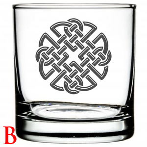 Personalized Whiskey Glass Celtic Design Celtic Symbol