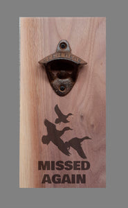 Personalised Wall Mount Bottle Opener Laser Engraved