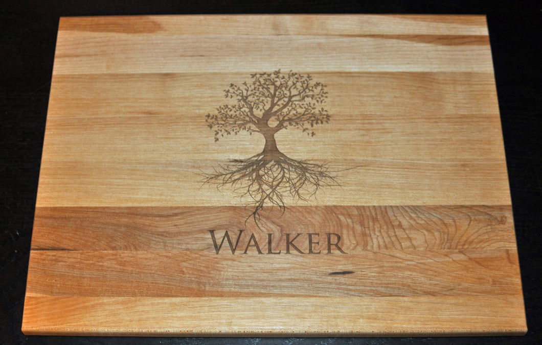 Laser Engraved Cutting Board Personalized Tree