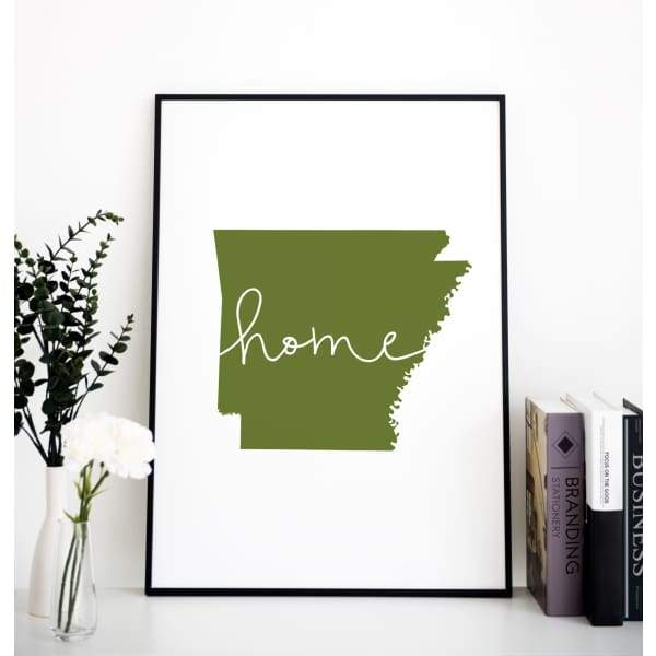 Arkansas State Flower and State Symbols Gallery Wall - Gallery Walls