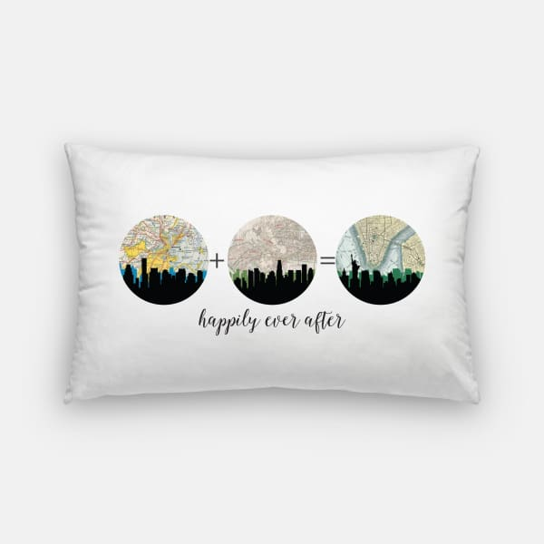 Choose Your Own Adventure | 3-4 City Custom Map Pillow - Pillows