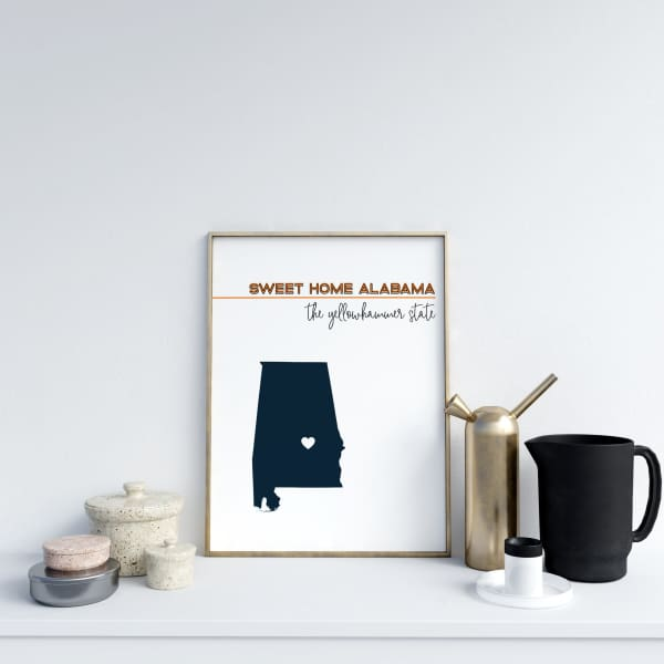 Customizable Alabama state art - Customizable