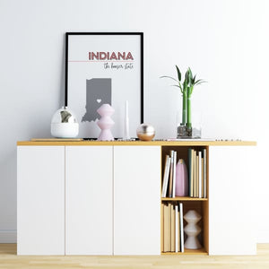 Customizable Indiana state art - Customizable