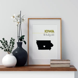 Customizable Iowa state art - Customizable