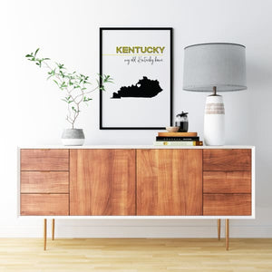 Customizable Kentucky state art - Customizable