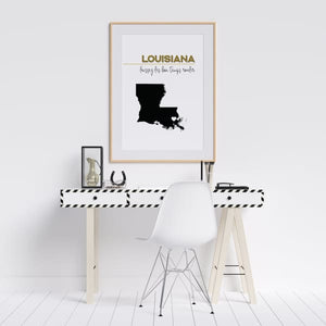 Customizable Louisiana state art - Customizable