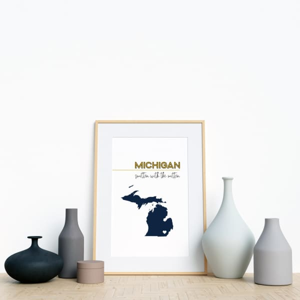 Customizable Michigan state art - Customizable