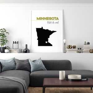 Customizable Minnesota state art - Customizable