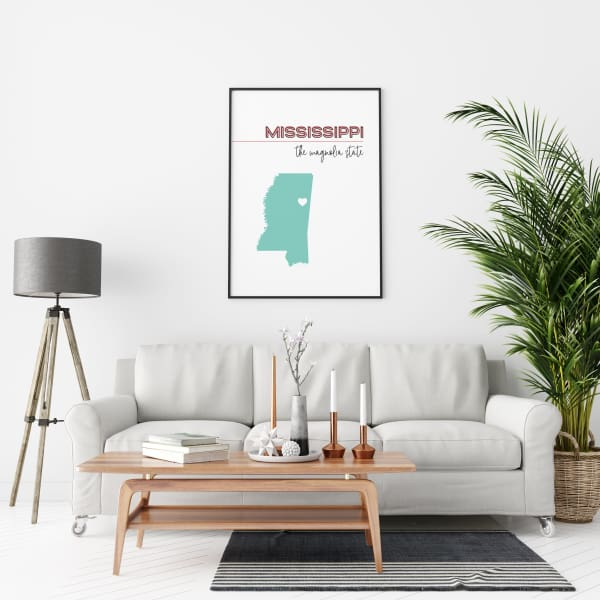 Customizable Mississippi state art - Customizable