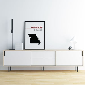 Customizable Missouri state art - Customizable