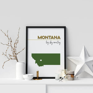 Customizable Montana state art - Customizable