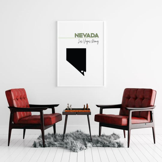 Customizable Nevada state art - Customizable