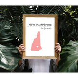 Customizable New Hampshire state art - Customizable