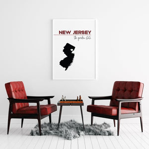 Customizable New Jersey state art - Customizable