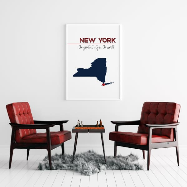 Customizable New York state art - Customizable