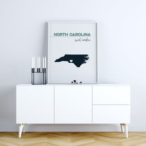Customizable North Carolina state art - Customizable