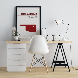 Customizable Oklahoma state art - Customizable