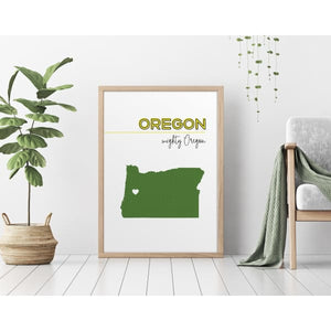 Customizable Oregon state art - Customizable