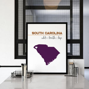Customizable South Carolina state art - Customizable