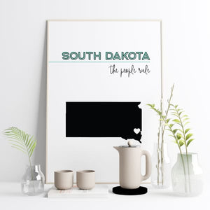Customizable South Dakota state art - Customizable