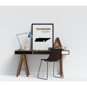 Customizable Tennessee state art - Customizable