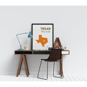 Customizable Texas state art - Customizable