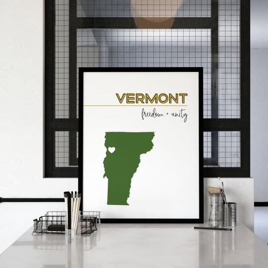 Customizable Vermont state art - Customizable