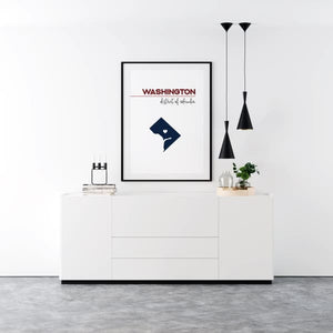 Customizable Washington DC state art - Customizable